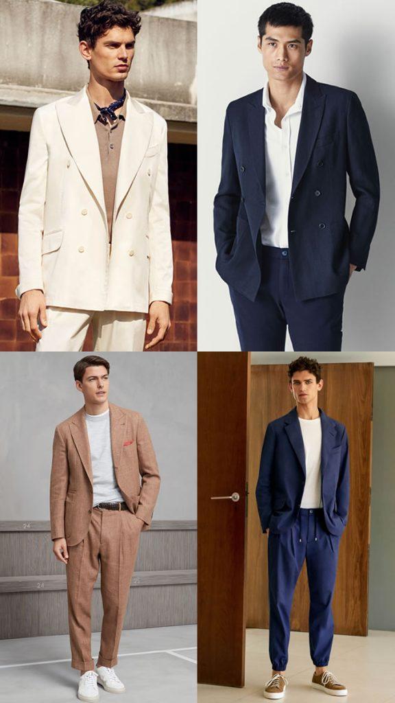 Männer kleiden sich